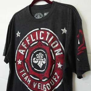 Affliction Men's XL T-SHIRT Tee MMA UFC Velasquez